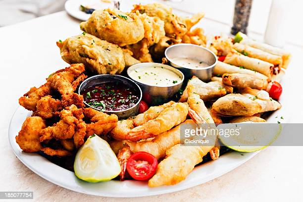 Platter of finger snacks