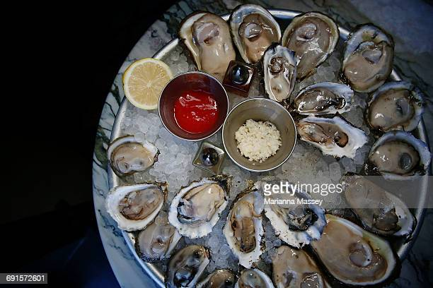 A platter of Raw Oysters