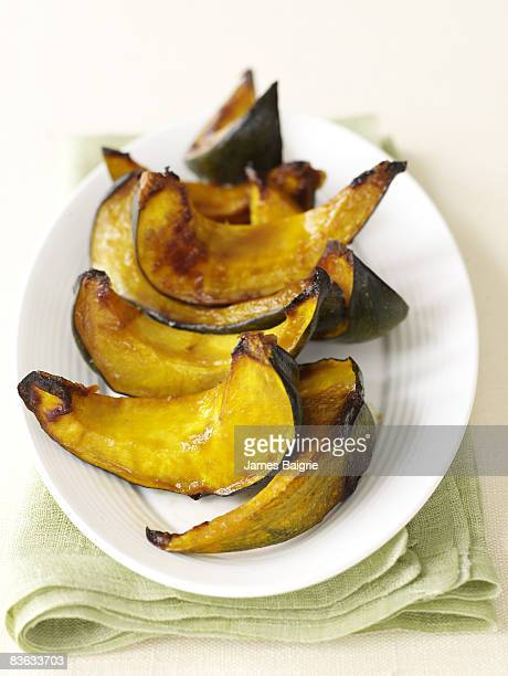 Platter of roasted acorn squash