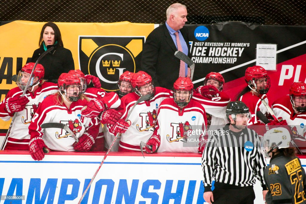 fa805c4c5a1 Plattsburgh State University celebrates after a goal is scored ...