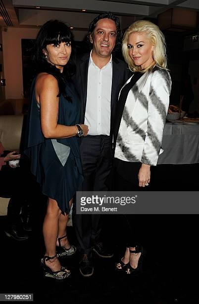Plaxy Locatelli Giorgio Locatelli and Gwen Stefani attend a book launch party for Chef Giorgio Locatelli's new book Made In Sicily at Locanda...