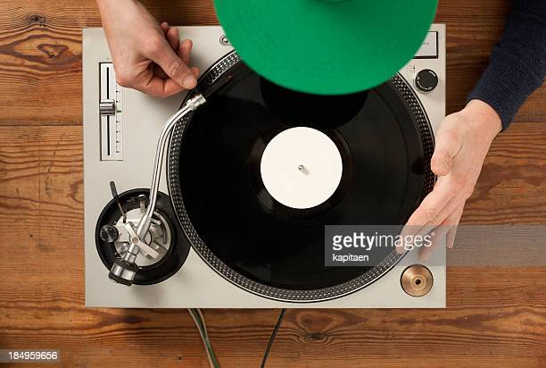 play a record - deck stock pictures, royalty-free photos & images