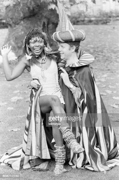 Play Away photocall with presenters Brian Cant and Floella Benjamin ahead of new series starting next month Tuesday 8th November 1983 Our picture...