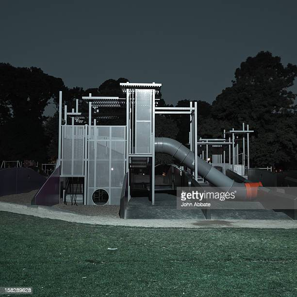 play contraption at night - carlton gardens stock pictures, royalty-free photos & images