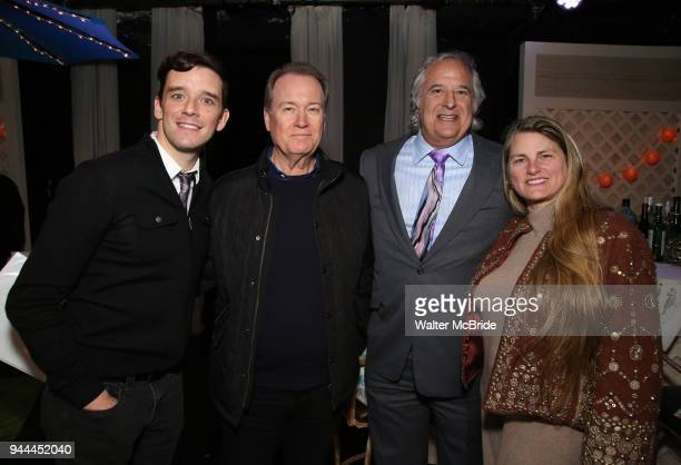 Play director Michael Urie film director David Horn producers Stewart F Lane and Bonnie Comley behind the scenes at BroadwayHD Films 'Bright Colors...