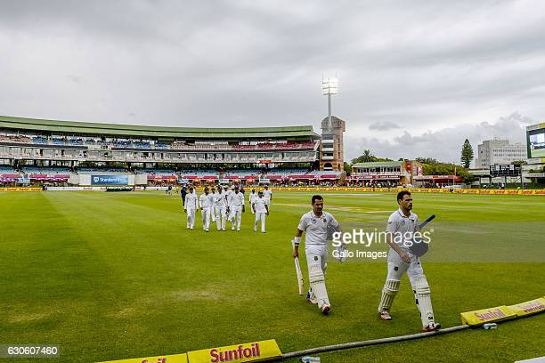 Play halted due to rain during day 3 of the 1st Test match between South Africa and Sri Lanka at St George's Park on December 28 2016 in Port...