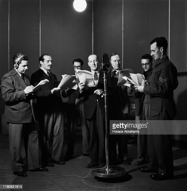 A play is performed at 'Radio Babeltown' a BBC radio station broadcasting in various languages during World War II March 1941