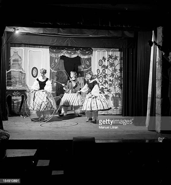 1955 play 'Little girls models' after the Countess of Segur adapted by Albert Vidalie and Louis Sapin has the Fountain of the Four Seasons in Paris...