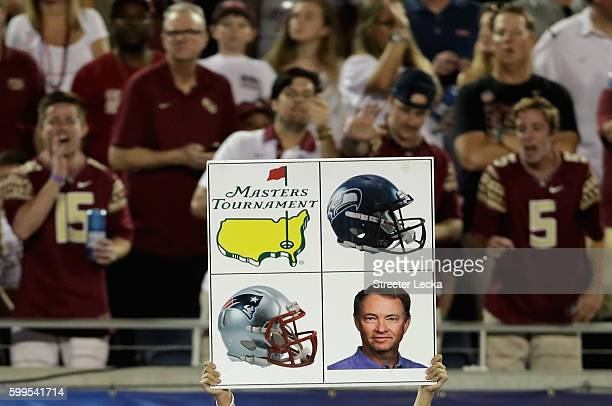 A play sign on the sidelines during the Camping World Kickoff between the Mississippi Rebels and Florida State Seminoles at Camping World Stadium on...