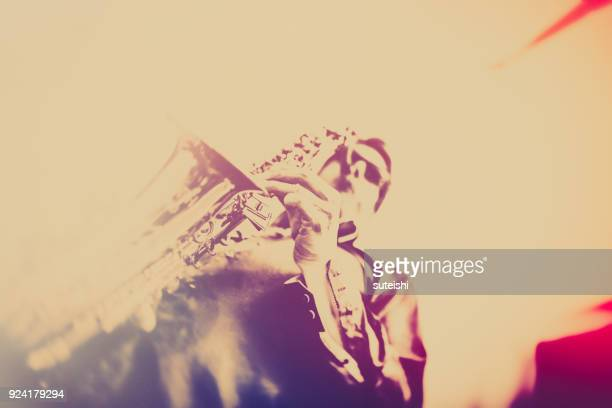 play the jazz - fabolous musician stock photos and pictures