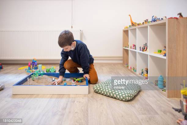 play therapy - autism stock pictures, royalty-free photos & images