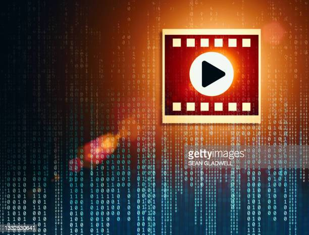 play video symbol and code - film festival stock pictures, royalty-free photos & images