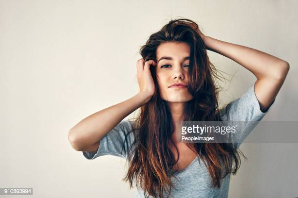 play with my hair and we'll have a deal - hair stock pictures, royalty-free photos & images