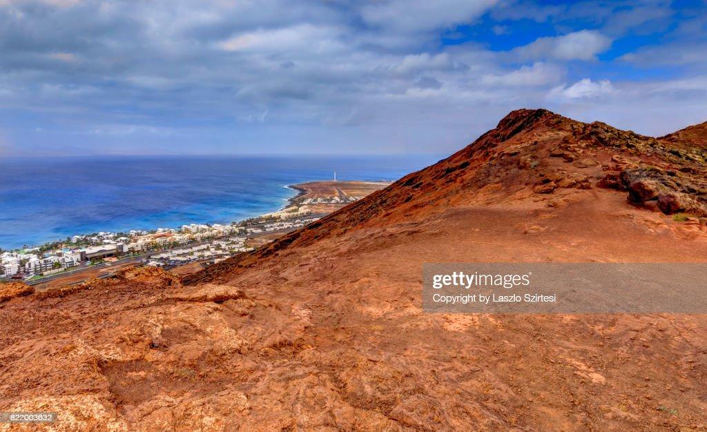 Playa Blanca from Volcano Montana Roja : Stock Photo