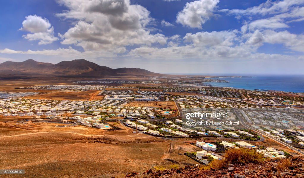 Playa Blanca from Volcano Montana Roja : Stock Photo