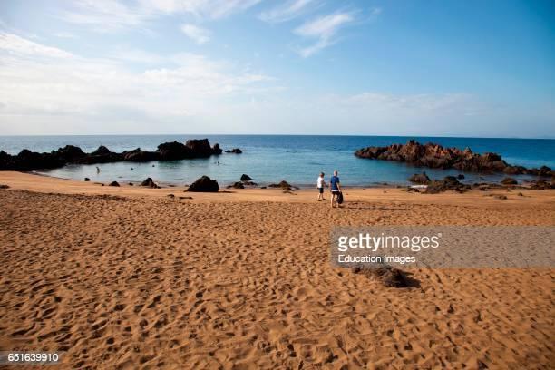 Playa Chica Puerto Del Carmen Lanzarote Canary Spain