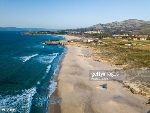playa de as furnas (xuño) - galicia stock pictures, royalty-free photos & images