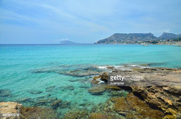 playa de calpe, alicante - calpe stock pictures, royalty-free photos & images