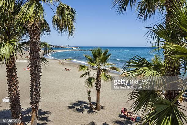 playa de la bajadilla marbella - marbella stock pictures, royalty-free photos & images