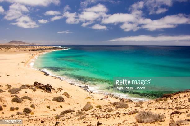 playa de las conchas in la graciosa, canary islands, spain. - lanzarote stock pictures, royalty-free photos & images
