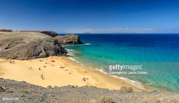 Playa de Papagayo in Lanzarote