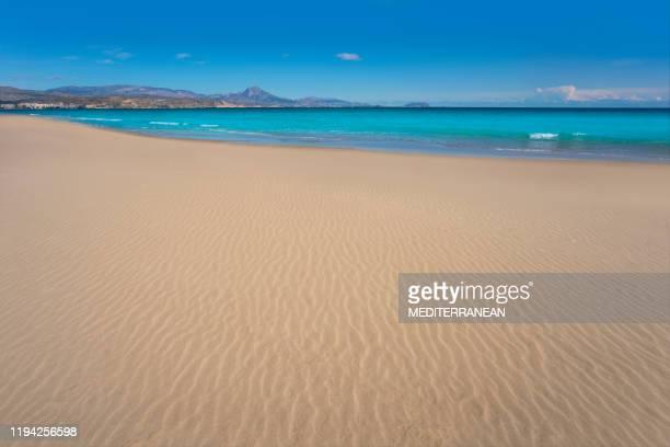 playa de san juan beach in alicante spain - alicante stock pictures, royalty-free photos & images