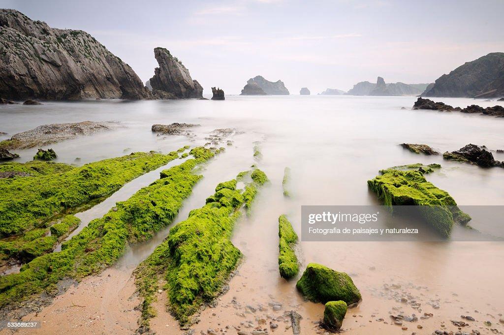 Playa de Somocuevas : Foto stock