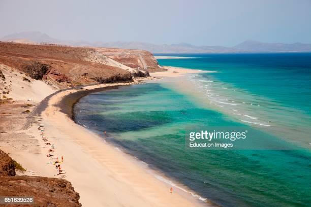 Playa De Sotavento. Fuerteventura. Canarie.