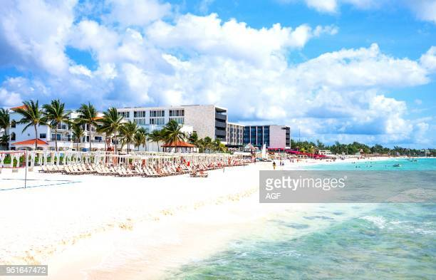 Playa Del Carmen Mexico Hotels and Tourists on the Beach