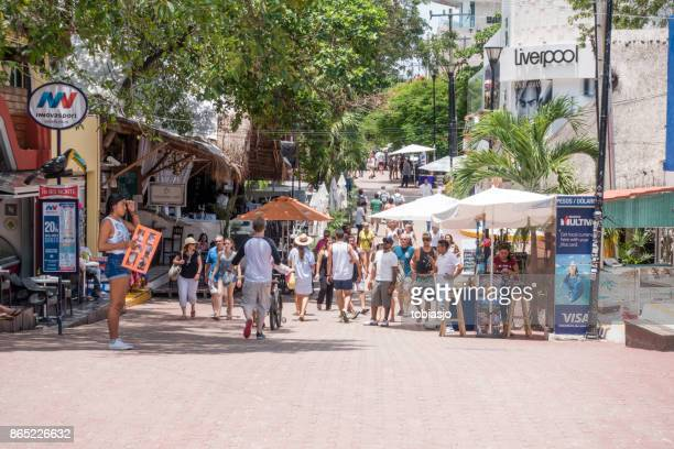 Playa Del Carmen shopping street