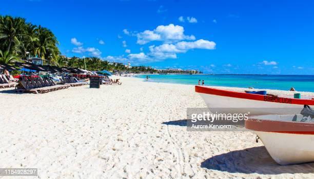 playa del carmen, yucatan, mexico - riviera maya stock photos and pictures