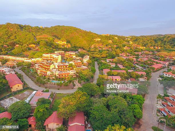 playa del coco town, guanacaste - costa rica - guanacaste stock pictures, royalty-free photos & images