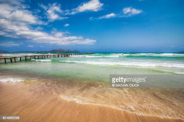 playa del muro - muro stock photos and pictures