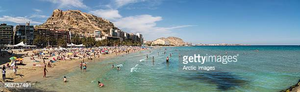 playa del postiguet beach, alicante, spain. - alicante stock pictures, royalty-free photos & images