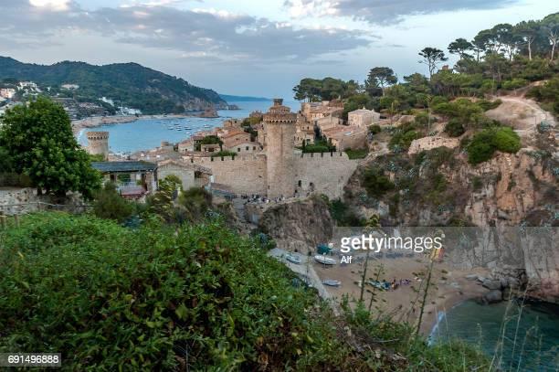 Playa Es Codolar in Tossa de Mar, Girona (Spain)