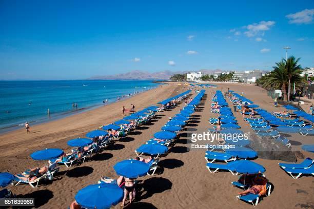 Playa Grande Playa Del Carmen Town Lanzarote Canary Spain