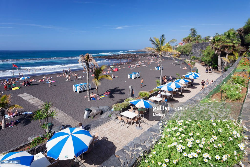 Playa jardin beach puerto de la cruz tenerife canary islands spain bildbanksbilder getty images - Playa puerto de la cruz tenerife ...