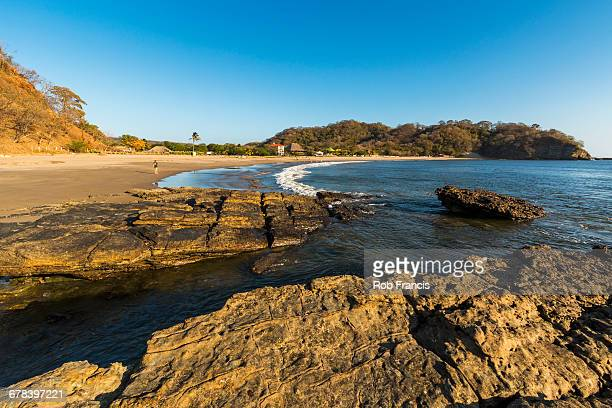 playa marsella, a lovely quiet beach in this popular southern surf coast area, playa marsella, san juan del sur, rivas, nicaragua, central america - nicaragua fotografías e imágenes de stock