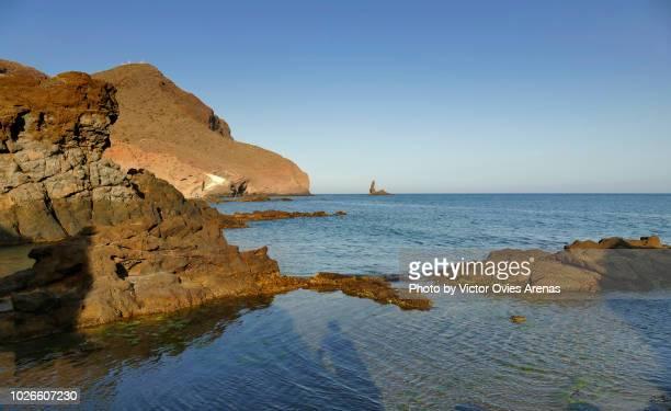 playa raja (raja beach), cabo de gata, almeria, spain - victor ovies fotografías e imágenes de stock