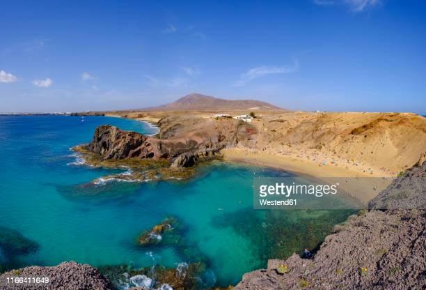 playas de papagayo, lanzarote, spain - lanzarote stock pictures, royalty-free photos & images