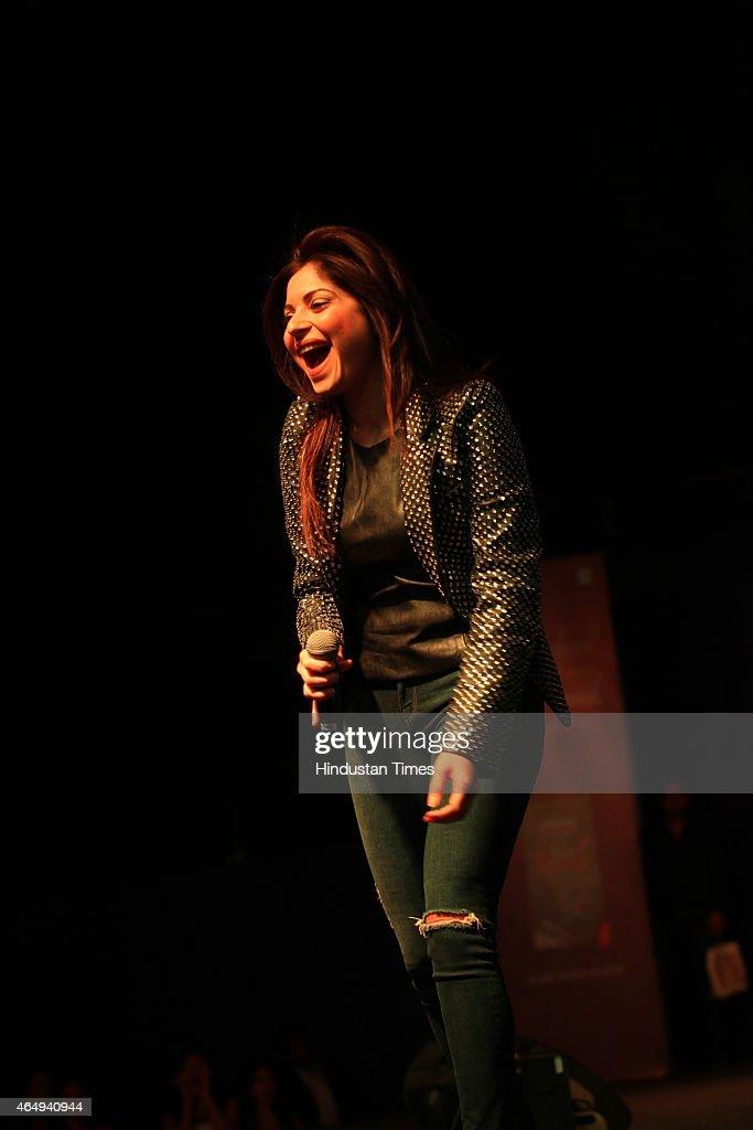Playback singer Kanika Kapoor performs at Lady Irwin ...