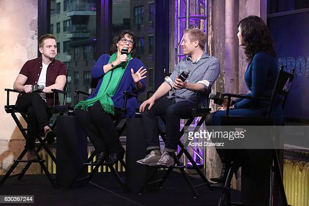 Playbill Digital Correspondent Tyler Mount actress Christine Pedi and actor Anthony Rapp talk with Features Editor at Playbillcom Ruthie Fierberg at...