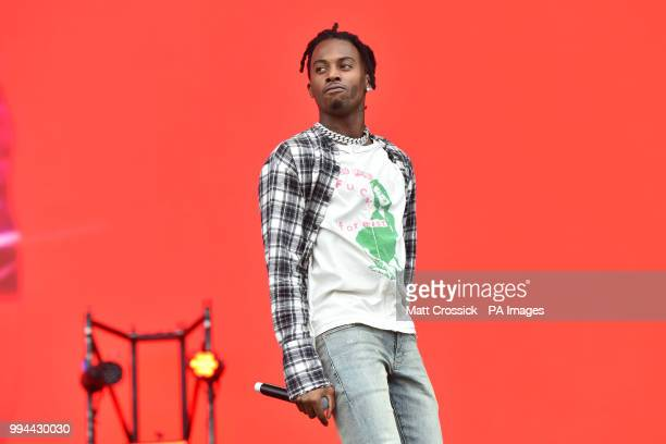 Playboi Carti performing on the third day of the Wireless Festival in Finsbury Park north London PRESS ASSOCIATION Photo Picture date Sunday July 8th...