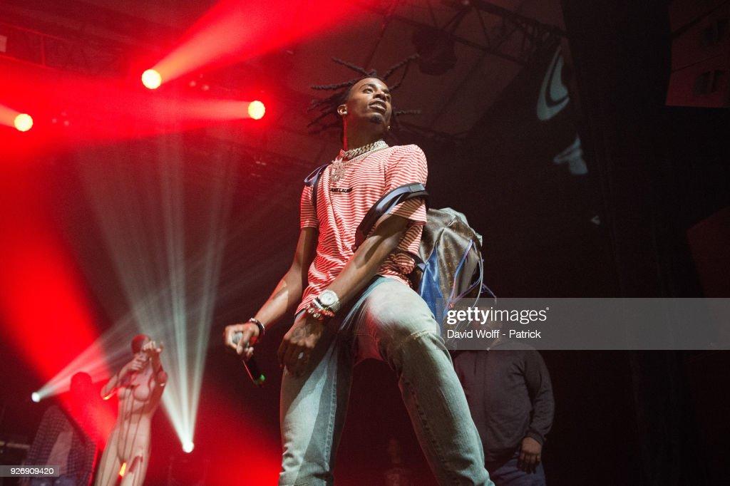 Playboi Carti  Performs At L'Elysee Monmartre In Paris : Fotografía de noticias