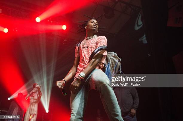 Playboi Carti performs at Elysee Montmartre on March 3 2018 in Paris France