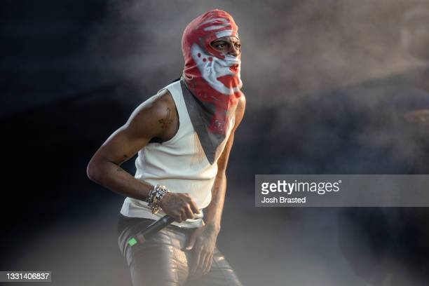 Playboi Carti performs at the 30th Anniversary of Lollapalooza at Grant Park on July 29, 2021 in Chicago, Illinois.