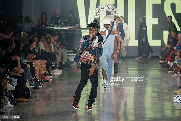 Playboi Carti performs at the VFILES fashion show during New York Fashion Week 2016 at Spring Studios on September 7 2016 in New York City