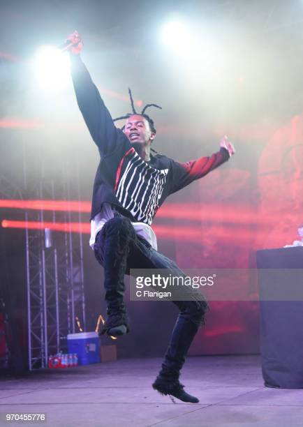 Playboi Carti performs during the 2018 Bonnaroo Music & Arts Festival on June 8, 2018 in Manchester, Tennessee.