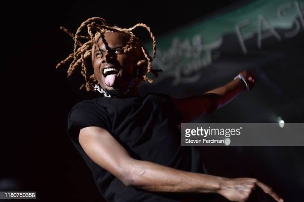 Playboi Carti performs during the 2019 Rolling Loud music festival at Citi Field on October 12, 2019 in New York City.
