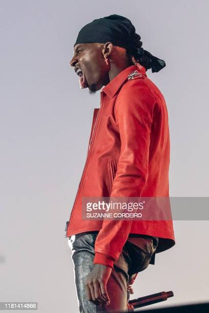 Playboi Carti performs during the Astroworld Festival at NRG Stadium on November 9 2019 in Houston Texas